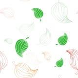 Άνευ ραφής σχέδιο με τα φύλλα Στοκ εικόνες με δικαίωμα ελεύθερης χρήσης