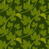Άνευ ραφής σχέδιο με τα φύλλα Στοκ Εικόνες