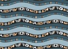 Άνευ ραφής σχέδιο με τα λωρίδες στο ύφος doodle Στοκ Φωτογραφία