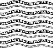 Άνευ ραφής σχέδιο με τα λωρίδες στο ύφος doodle Στοκ εικόνες με δικαίωμα ελεύθερης χρήσης