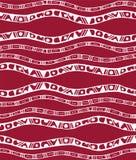 Άνευ ραφής σχέδιο με τα λωρίδες στο ύφος doodle Στοκ Φωτογραφίες