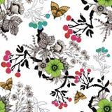Άνευ ραφής σχέδιο με τα όμορφα λουλούδια, ζωγραφική Watercolor ελεύθερη απεικόνιση δικαιώματος