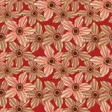 Άνευ ραφής σχέδιο με τα όμορφα λουλούδια, υπόβαθρο Στοκ Φωτογραφία