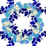 Άνευ ραφής σχέδιο με τα bellflowers floral διακόσμηση Στοκ Εικόνα