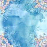 Άνευ ραφής σχέδιο με τα bellflowers floral διακόσμηση Στοκ φωτογραφία με δικαίωμα ελεύθερης χρήσης