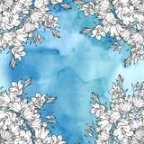 Άνευ ραφής σχέδιο με τα bellflowers floral διακόσμηση Στοκ εικόνα με δικαίωμα ελεύθερης χρήσης