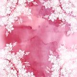 Άνευ ραφής σχέδιο με τα bellflowers floral διακόσμηση Στοκ εικόνες με δικαίωμα ελεύθερης χρήσης