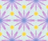 Άνευ ραφής σχέδιο με τα cornflowers Στοκ Εικόνες