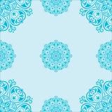 Άνευ ραφής σχέδιο με τα mandalas Στοκ Εικόνα