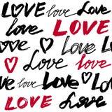 Άνευ ραφής σχέδιο με την αγάπη λέξεων Στοκ φωτογραφίες με δικαίωμα ελεύθερης χρήσης
