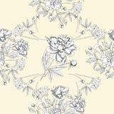 Άνευ ραφής σχέδιο με την ανθοδέσμη των λουλουδιών Στοκ Φωτογραφίες