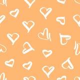 Άνευ ραφής σχέδιο με την εικόνα των καρδιών Στοκ Φωτογραφίες