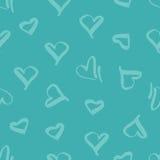 Άνευ ραφής σχέδιο με την εικόνα των καρδιών Στοκ Φωτογραφία