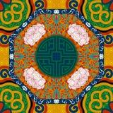 Άνευ ραφής σχέδιο με την κινεζική διακόσμηση peony Στοκ φωτογραφία με δικαίωμα ελεύθερης χρήσης