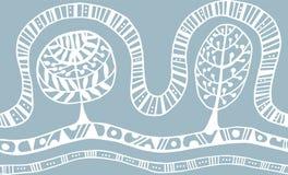 Άνευ ραφής σχέδιο με τη βοτανική σύσταση στο ύφος doodle Στοκ φωτογραφίες με δικαίωμα ελεύθερης χρήσης