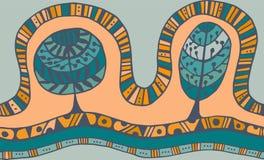 Άνευ ραφής σχέδιο με τη βοτανική σύσταση στο ύφος doodle Στοκ Εικόνες