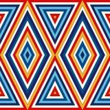 Άνευ ραφής σχέδιο με τη γεωμετρική διακόσμηση αφηρημένη ανασκόπηση φωτεινή Επαναλαμβανόμενη ταπετσαρία τριγώνων Στοκ Φωτογραφίες