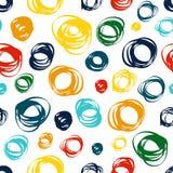 Άνευ ραφής σχέδιο με τη ζωηρόχρωμη διακόσμηση doodle Στοκ Εικόνες