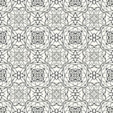 Άνευ ραφής σχέδιο με τη διακοσμητική διακόσμηση Στοκ εικόνες με δικαίωμα ελεύθερης χρήσης