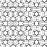 Άνευ ραφής σχέδιο με τη διακόσμηση δαντελλών μωσαϊκών Στοκ Εικόνες