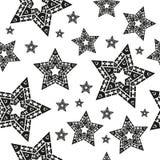 Άνευ ραφής σχέδιο με τη διανυσματική απεικόνιση αστεριών Στοκ Εικόνες