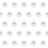 Άνευ ραφής σχέδιο με τη σφαίρα καλαθοσφαίρισης Στοκ Εικόνες
