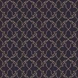 Άνευ ραφής σχέδιο με τη χρυσή διακόσμηση σε μαύρο χαρτί Στοκ Εικόνα