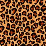 Άνευ ραφής σχέδιο με τη χρωματίζοντας λεοπάρδαλη σύστασης διανυσματική απεικόνιση