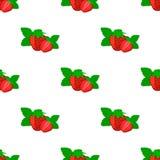 Άνευ ραφής σχέδιο με τη Juicy ώριμη φράουλα ελεύθερη απεικόνιση δικαιώματος