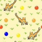 Άνευ ραφής σχέδιο με τις αλεπούδες ελεύθερη απεικόνιση δικαιώματος