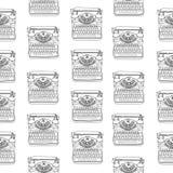 Άνευ ραφής σχέδιο με τις εκλεκτής ποιότητας γραφομηχανές Στοκ εικόνα με δικαίωμα ελεύθερης χρήσης