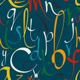 Άνευ ραφής σχέδιο με τις διακοσμητικές επιστολές Στοκ φωτογραφία με δικαίωμα ελεύθερης χρήσης