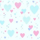 Άνευ ραφής σχέδιο με τις διαφορετικές καρδιές Στοκ εικόνες με δικαίωμα ελεύθερης χρήσης