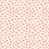 Άνευ ραφής σχέδιο με τις καρδιές που συνδέεται Στοκ φωτογραφία με δικαίωμα ελεύθερης χρήσης