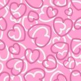 Άνευ ραφής σχέδιο με τις καρδιές στο ροζ απεικόνιση αποθεμάτων