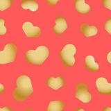 Άνευ ραφής σχέδιο με τις καρδιές όμορφες Στοκ Εικόνα