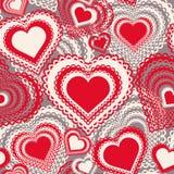 Άνευ ραφής σχέδιο με τις καρδιές Στοκ Φωτογραφία