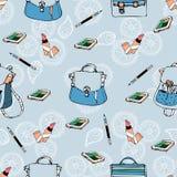 άνευ ραφής σχέδιο με τις τσάντες και το σακίδιο πλάτης Στοκ Φωτογραφία