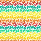Άνευ ραφής σχέδιο με τις φωτεινές πεταλούδες σκιαγραφιών ουράνιων τόξων Στοκ Εικόνες
