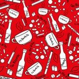 Άνευ ραφής σχέδιο με τον εθισμό και τα φάρμακα Στοκ εικόνα με δικαίωμα ελεύθερης χρήσης