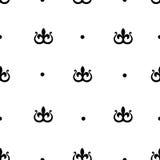 Άνευ ραφής σχέδιο με τον τυποποιημένο βασιλικό κρίνο Στοκ Φωτογραφίες