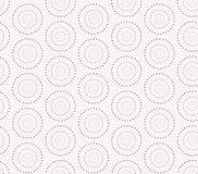 Άνευ ραφής σχέδιο με τους διαστιγμένους κύκλους διάνυσμα Στοκ Φωτογραφίες