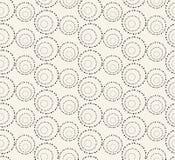 Άνευ ραφής σχέδιο με τους διαστιγμένους κύκλους διάνυσμα Στοκ εικόνα με δικαίωμα ελεύθερης χρήσης