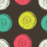 Άνευ ραφής σχέδιο με τους κύκλους κακογραφιών Στοκ Φωτογραφίες