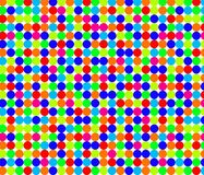 Άνευ ραφής σχέδιο με τους μικρούς φωτεινούς κύκλους Στοκ Φωτογραφία