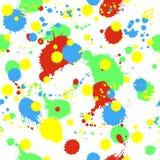 Άνευ ραφής σχέδιο με τους παφλασμούς, τις σταγόνες και τους λεκέδες Στοκ Εικόνα