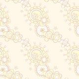 Άνευ ραφής σχέδιο με το αφηρημένο floral σχέδιο Στοκ Φωτογραφίες