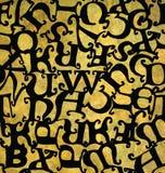 Άνευ ραφής σχέδιο με το αλφάβητο Μεσαιώνων Στοκ Εικόνα