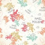 Άνευ ραφής σχέδιο με το βερνίκι καρφιών για το κείμενο και το χρώμα Στοκ εικόνες με δικαίωμα ελεύθερης χρήσης