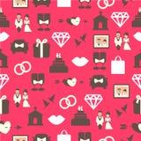 Άνευ ραφής σχέδιο με το γαμήλιο εξοπλισμό απεικόνιση αποθεμάτων